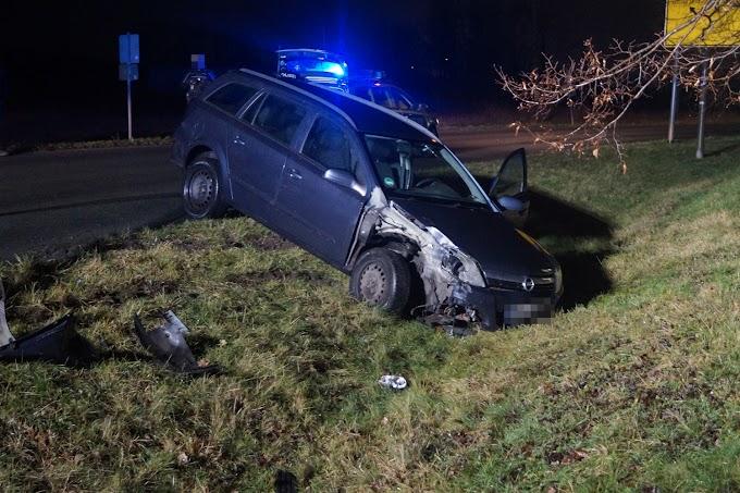 Fahrer flüchtet nach Unfall in Jeßnitz