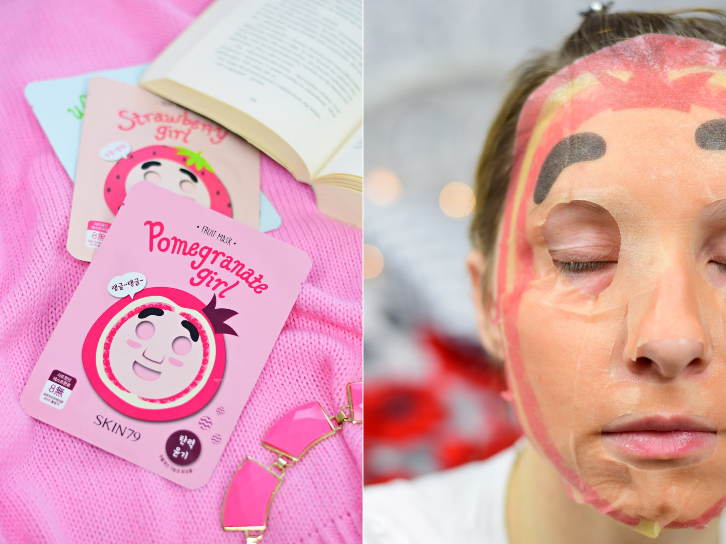 skin79_maska_w_płacie_granat_pomegranate_girl_blog_opinia_recenzja_test