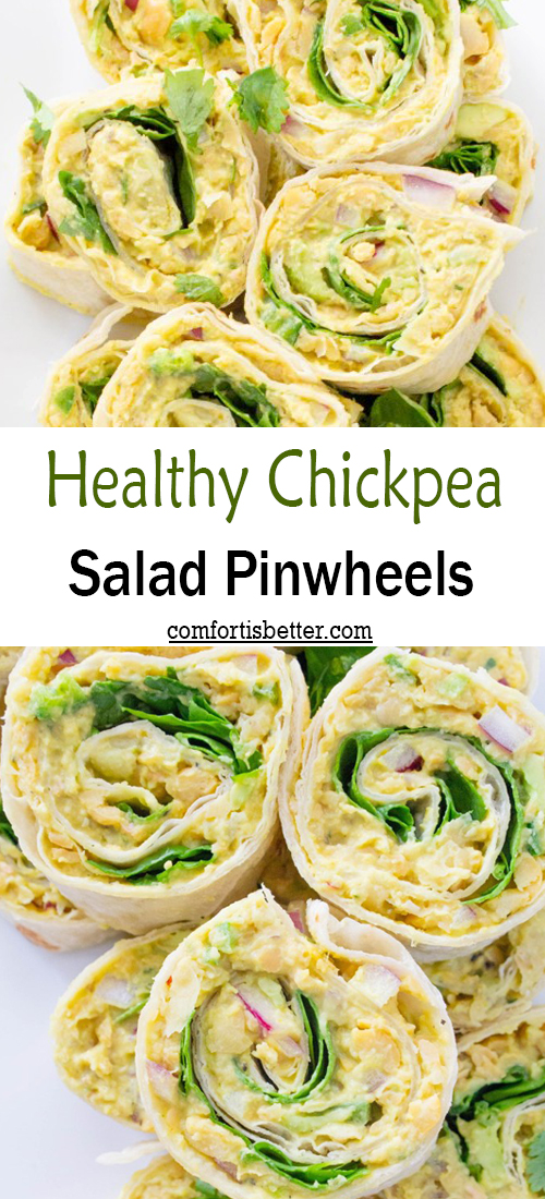 Healthy Chickpea Salad Pinwheels