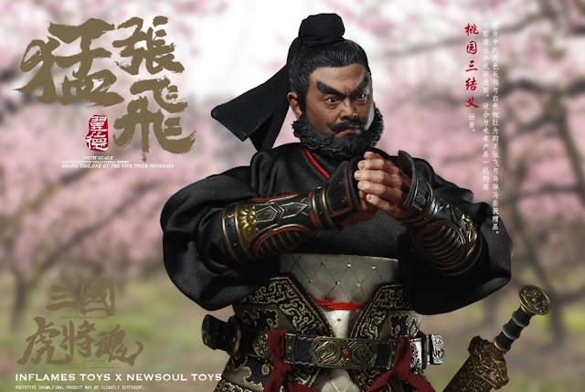 โมเดลเตียวหุย INFLAMES TOYS IFT-019 1/6 'Sets Of Soul Of Tiger Generals -Zhang Yide & The Wuzhui Horse'