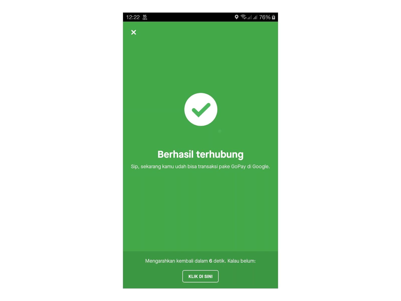 GoPay Berhasil Terhubung dengan Google Play