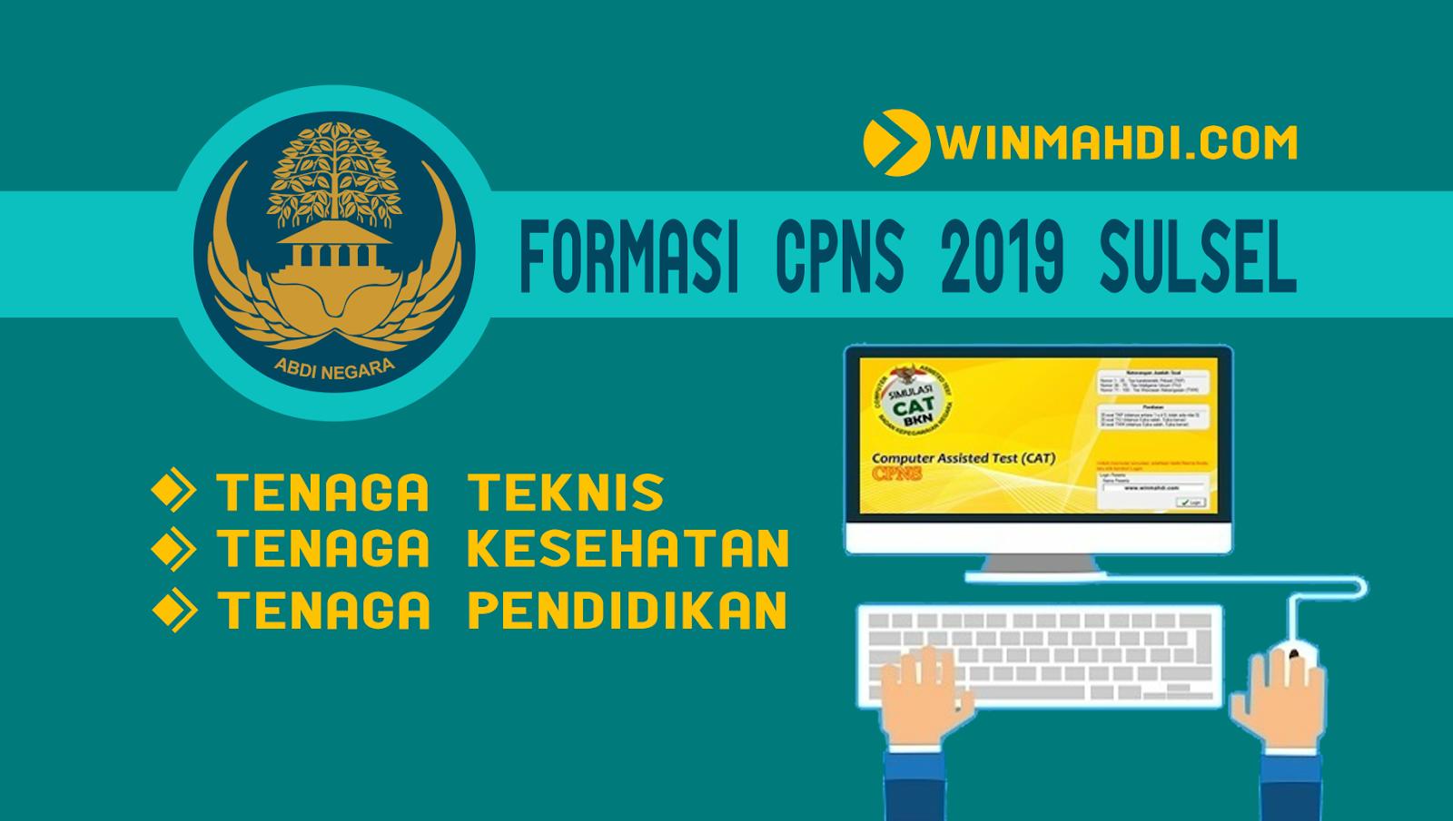 Formasi CPNS 2019 SULSEL