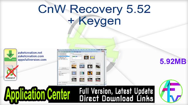 CnW Recovery 5.52 + Keygen