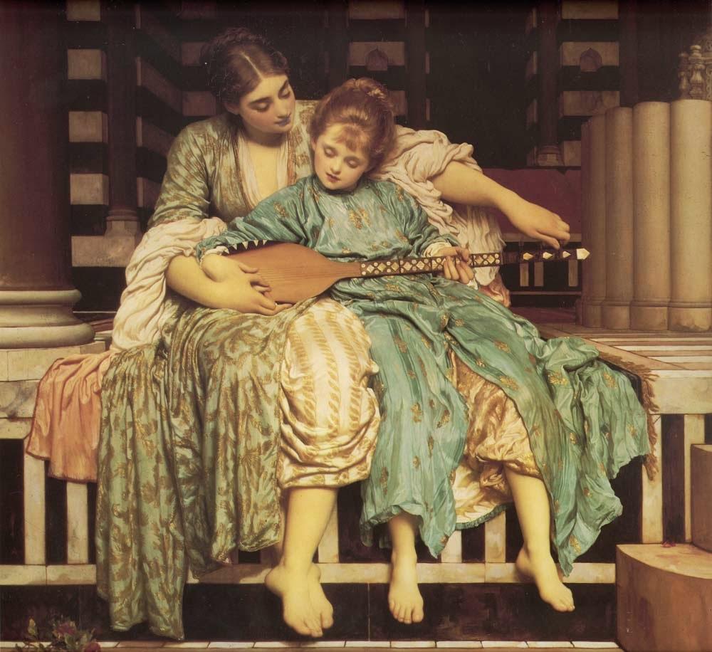 Lição de Música - Lord Frederick, o mais famoso artista britânico do século XlX
