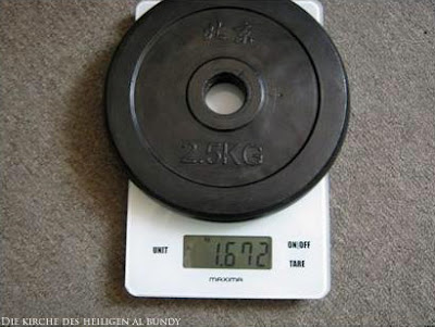 Gewicht auf Waage witziger Test - Da stimmt doch was nicht