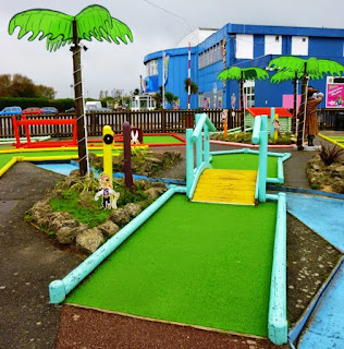 The Crazy Golf course at Pontins Camber Sands