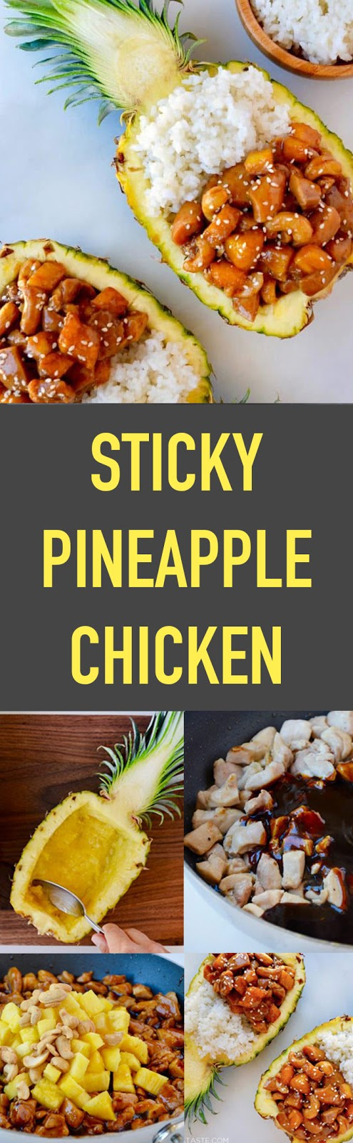 Delicious Sticky Pineapple Chicken