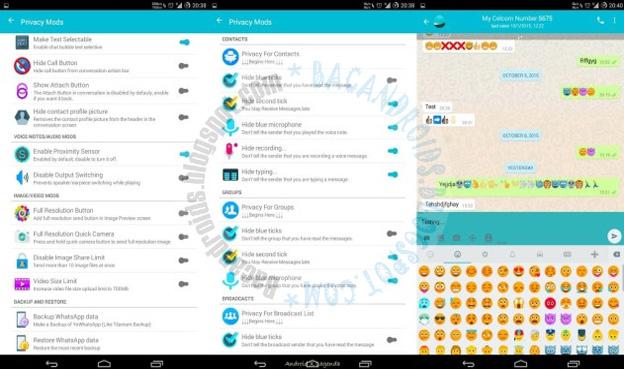 Download Whatsapp Mod Yowhatsapp v4.00 Base versi 2.16.230 Apk Terbaru Full Fitur