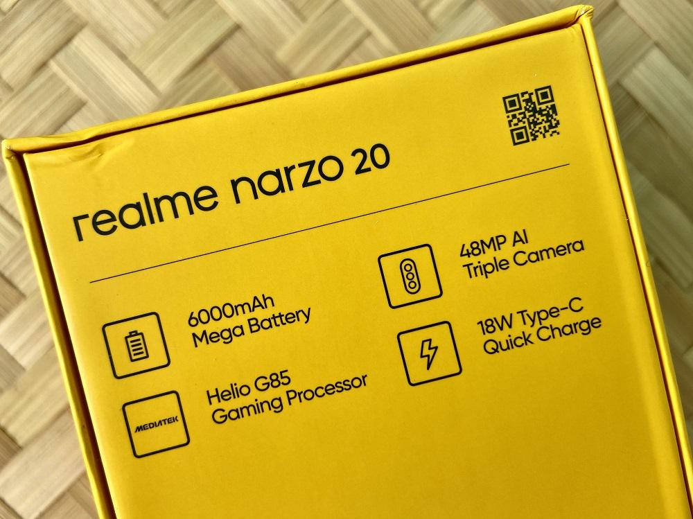 realme narzo 20 Retail Box - Back Features