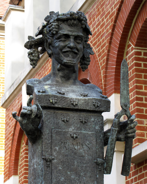 Herma of Priapus, by Alexander Stoddart, Vincent Square, Pimlico, London
