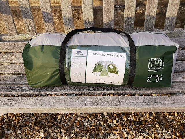 Trespass event shelter in its bag