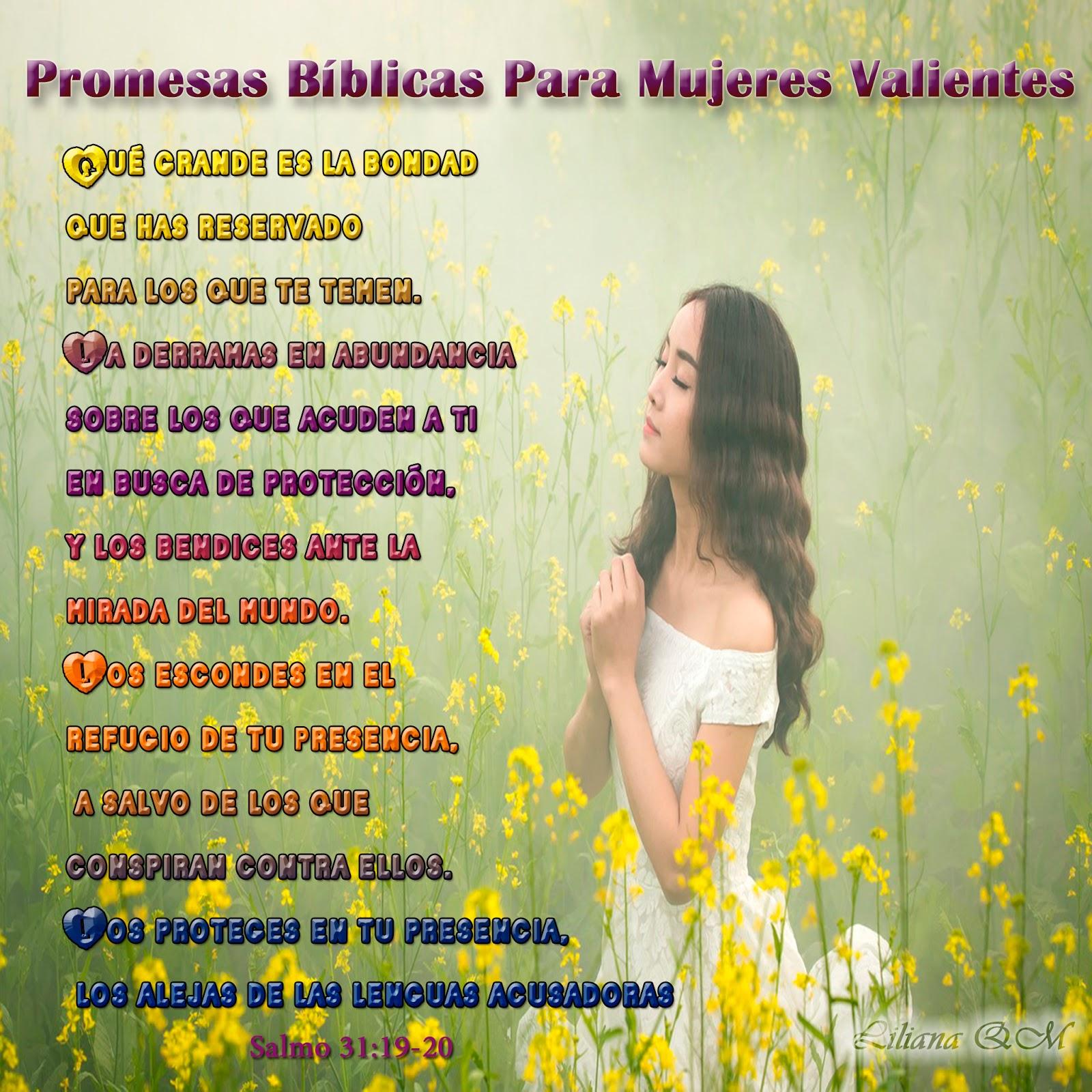 Versiculos Biblicos De Promesas De Dios: Las PROMESAS DE DIOS Para Mujeres Esforzadas Y Valientes