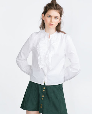 Zara TRF Frilly Blouse