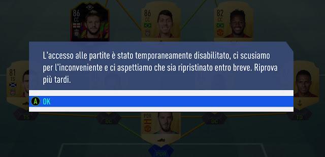 FIFA 19 i Server sono offline
