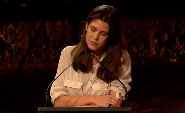 Charlotte Casiraghi attended the first day of Philosophical Encounters 2020. Charlotte is wearing beige shirt