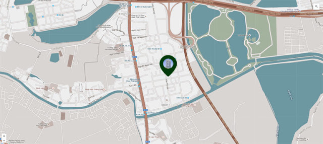 vị trí chung cư phương đông green park