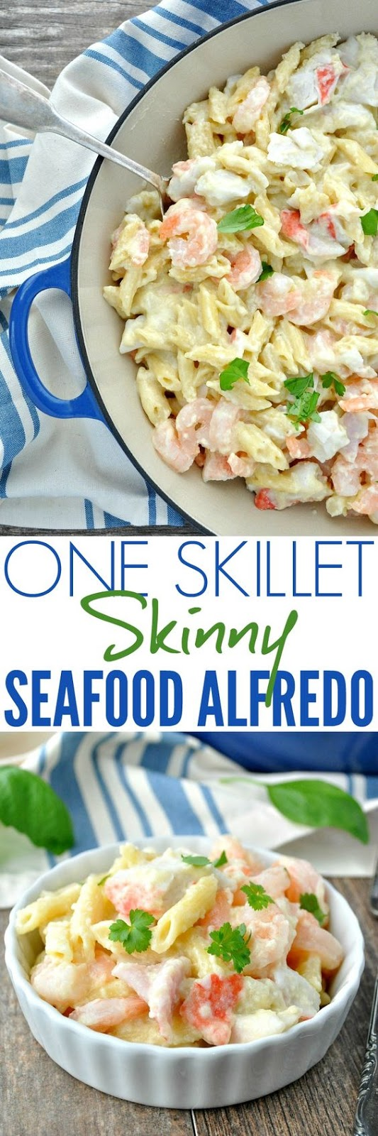 Lightened Up One Skillet Shrimp Alfredo
