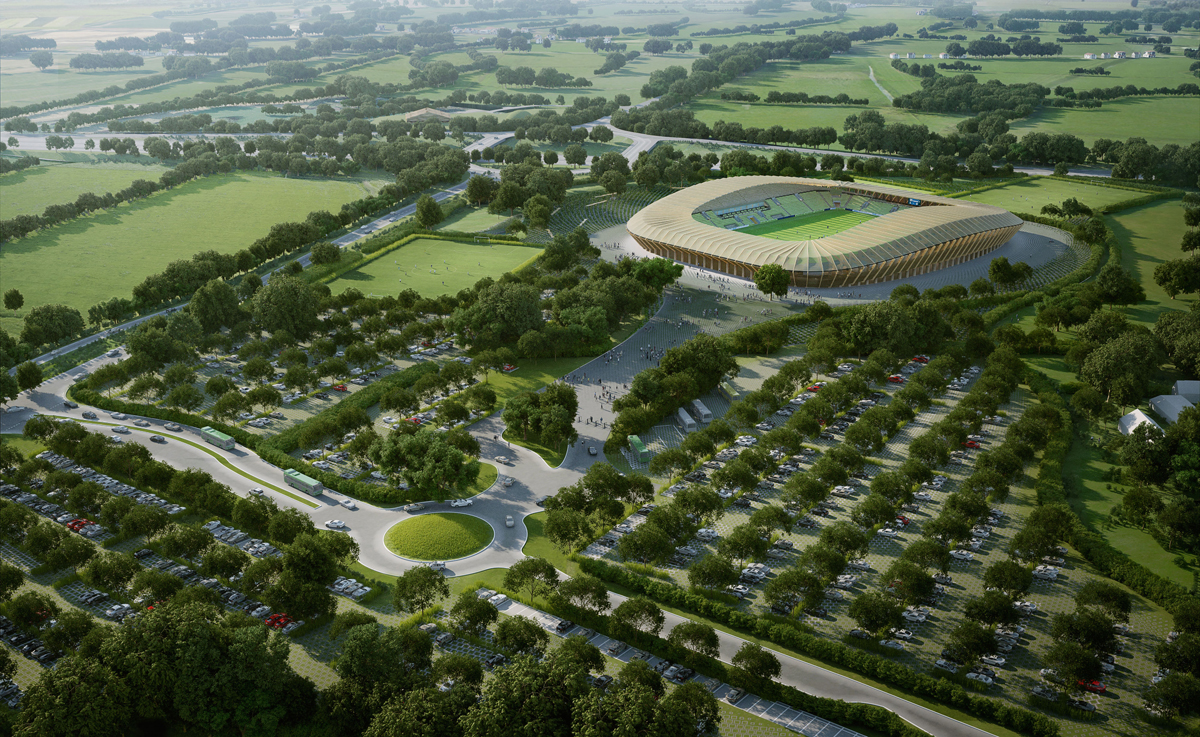 progetto stadio legno forest green rovers architettura aggiornamenti