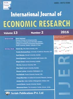 IJER - INTERNATIONAL JOURNAL OF ECONOMIC RESEARCH