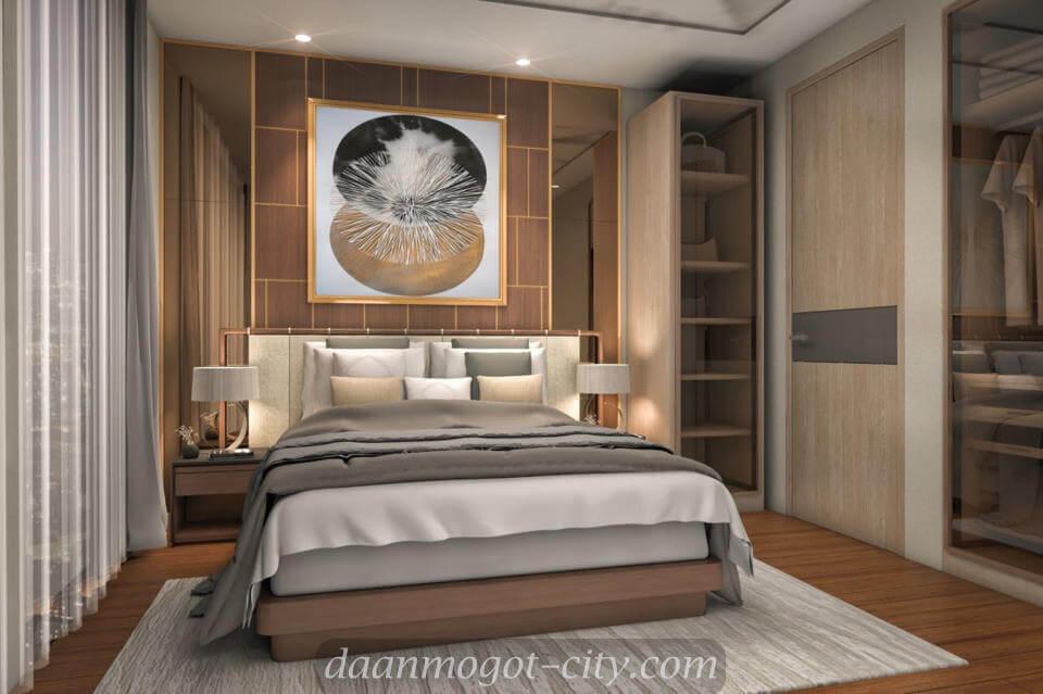 Contoh design master bedroom apartemen DAMOCI