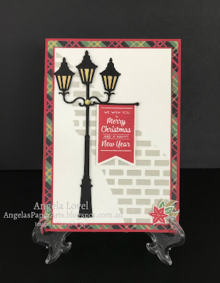 Stampin' Up! Brightly Lit Christmas card by Angela Lovel, Angela's PaperArts