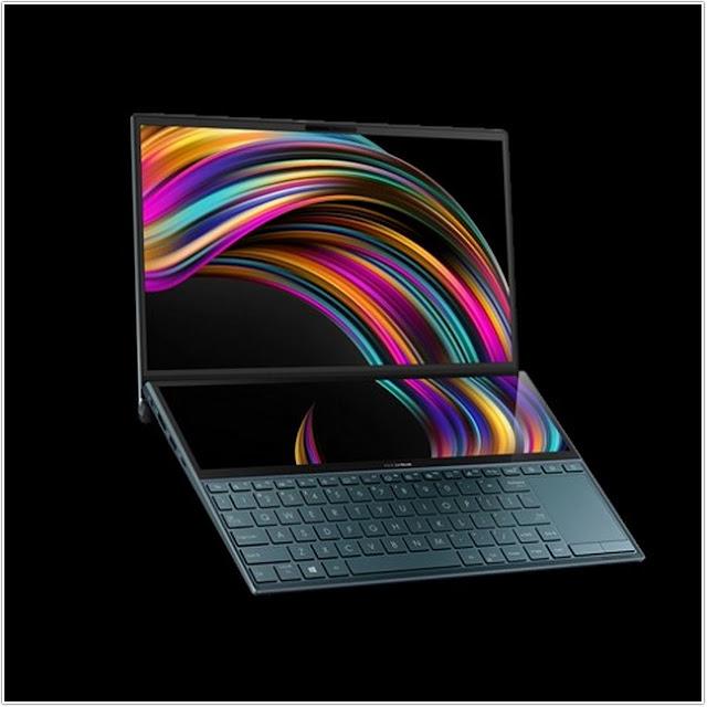 Asus ZenBook Duo & Sensasi Monitor Eksternal;Asus Zenbook Duo UX481FL-BMO72T;