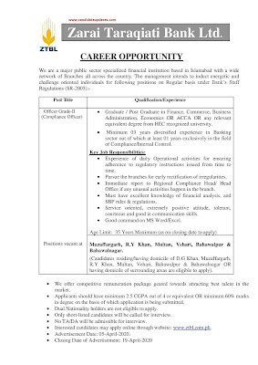 ztbl jobs 2020 apply online