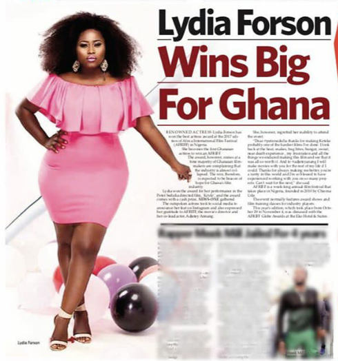 """I was rejected for role because I didn't fit into producer's idea of what a beautiful woman looks like"": Lydia Forson recalls"
