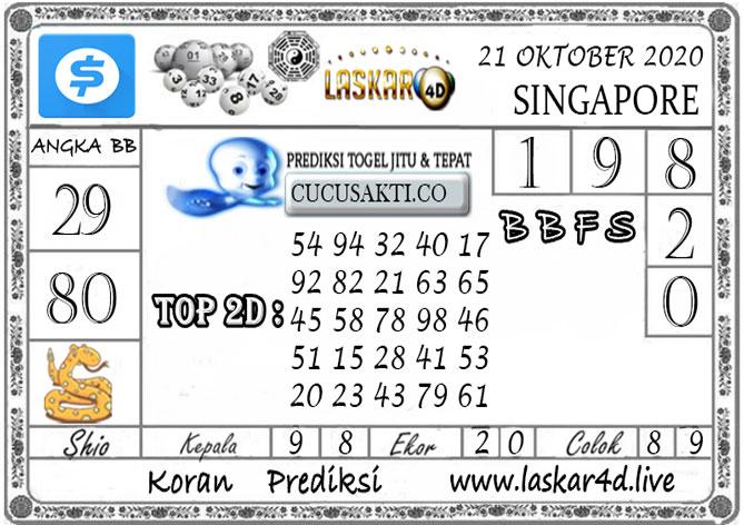 Prediksi Togel SINGAPORE LASKAR4D 21 OKTOBER 2020