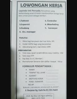 info loker Kediri terbaru