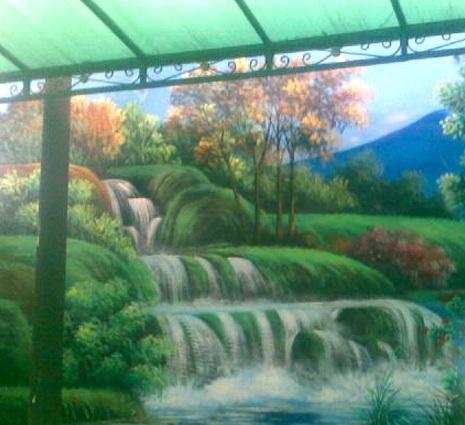 Lukisan Mural Pemandangan