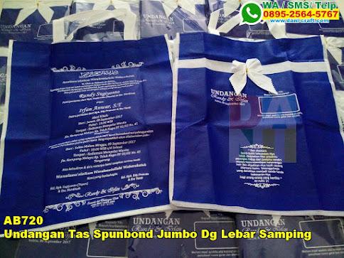Grosir Undangan Tas Spunbond Jumbo Dg Lebar Samping