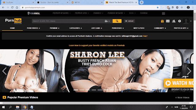Screenshot of Pornhub Premium Login Proof by Durtypass.com