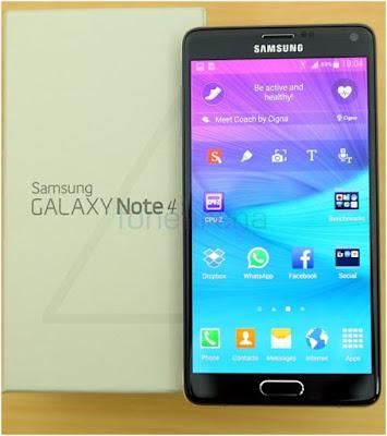 dich vu thay mat kinh Samsung galaxy note 4