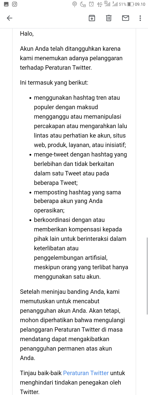 Peringatan untuk berhati hati agar Twitter tidak disuspen