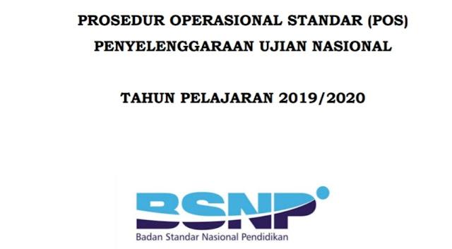 Prosedur Operasional Standar (POS) Ujian Nasional 2019/2020, SMP/MTs, SMA/MA sederajat