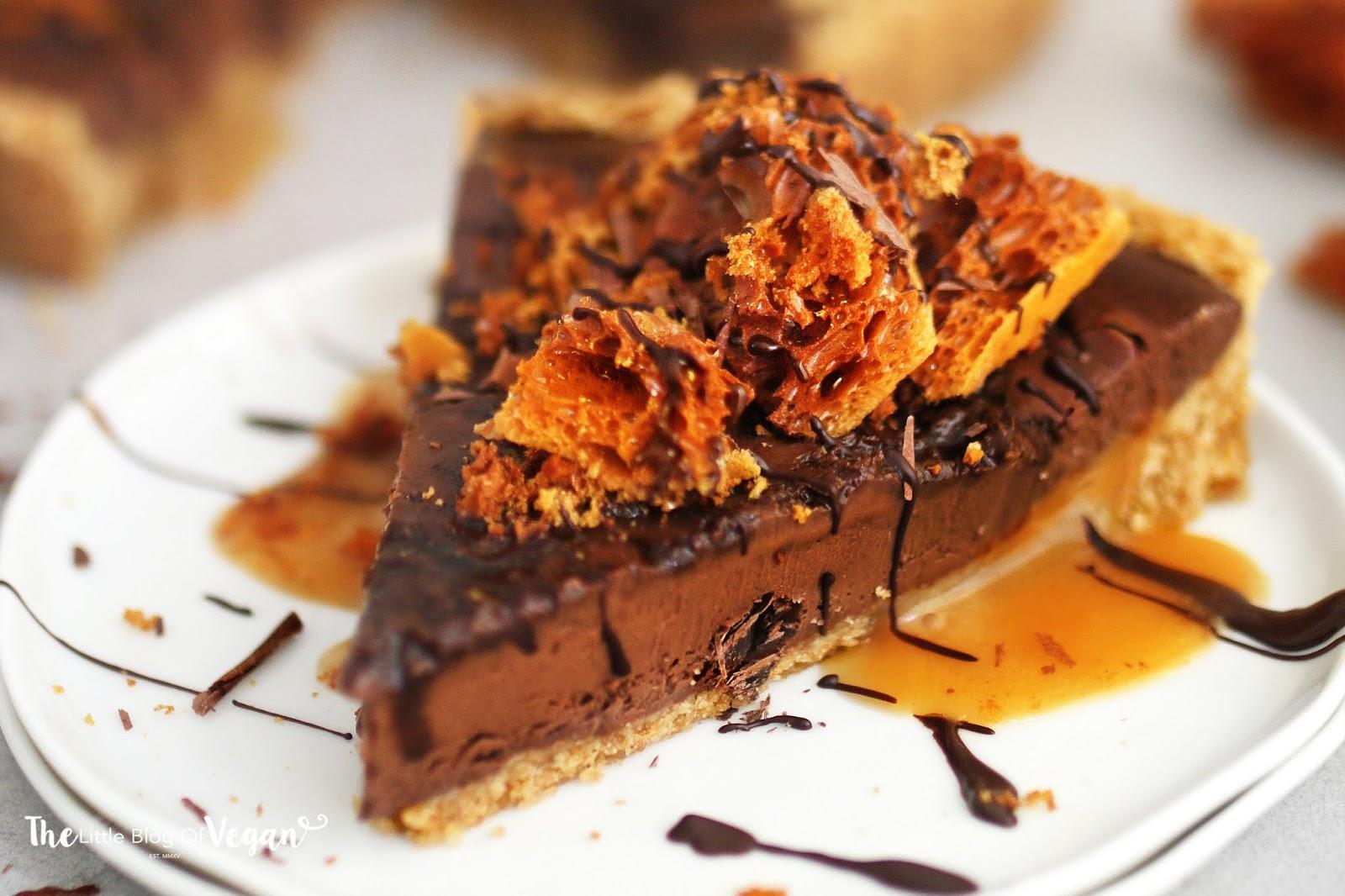 No-bake chocolate honeycomb tart recipe