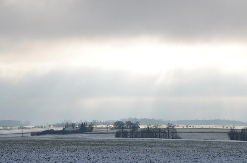Paysage de Neige Campagne Puisaye Yonne