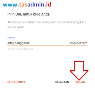 tentukan alamat web sekolah