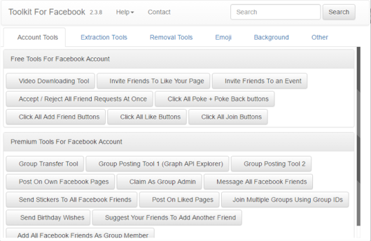 Facebook Social Toolkit Premium (Google Chrome Extension)