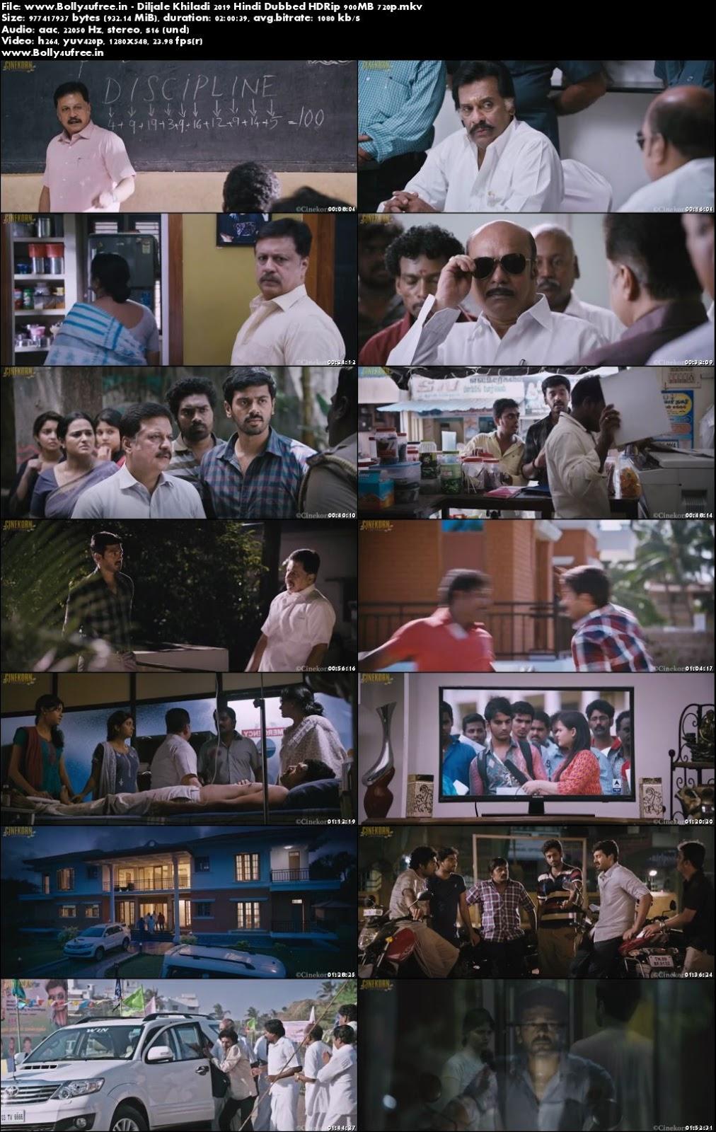 Diljale Khiladi 2019 Hindi Dubbed HDRip 900MB 720p