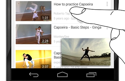 YOUTUBE 5.0 PARA ANDROID