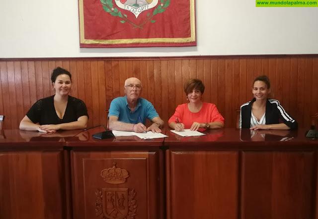 El Ayuntamiento de la Villa y Puerto de Tazacorte renueva su convenio de colaboración con AFA La Palma