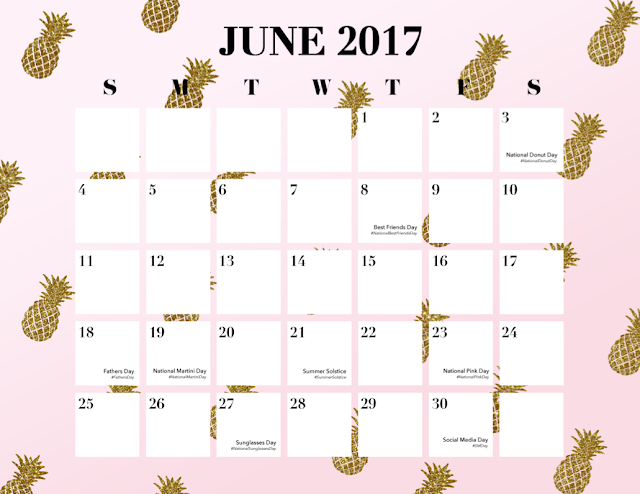Be ready for all the national hashtag holidays with this FREE 2017 Calendar Download