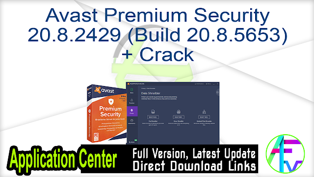 Avast Premium Security 20.8.2429 (Build 20.8.5653) + Crack