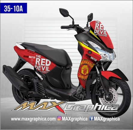 stiker decal Lexi manchester united fullbody printing