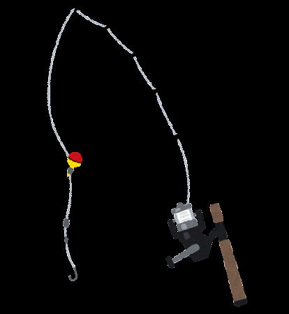 釣り竿のイラスト(投げ竿)