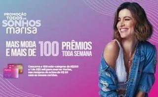 Promoção Cartões Marisa 2020 Todos Sonhos - Concorra Vales-Compras