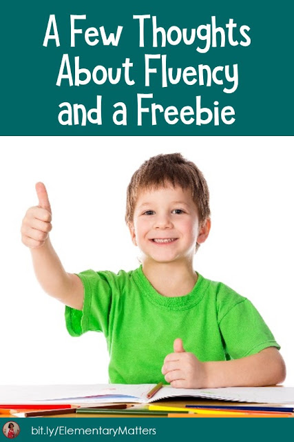 A Few Thoughts About Fluency and a Freebie: After extensive training on helping children read, we've narrowed fluency down to these 4 parts.