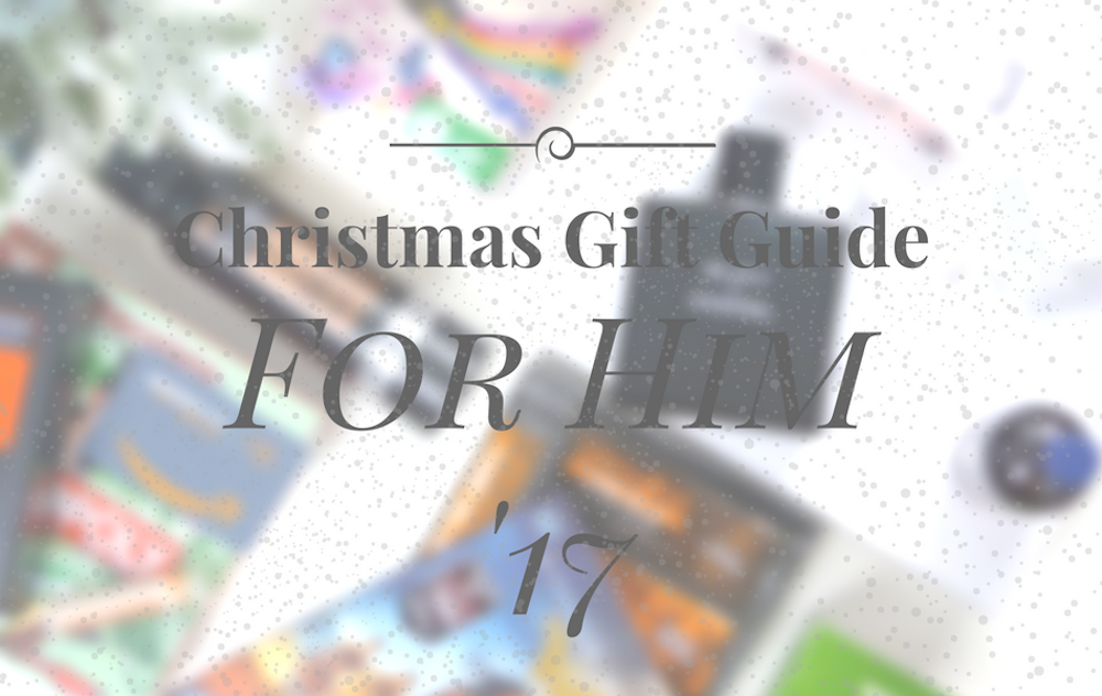 an image of Christmas Gift Guide 2017 For Him